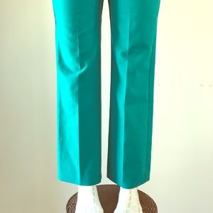 Teal Vintage 1970s high waisted trousers